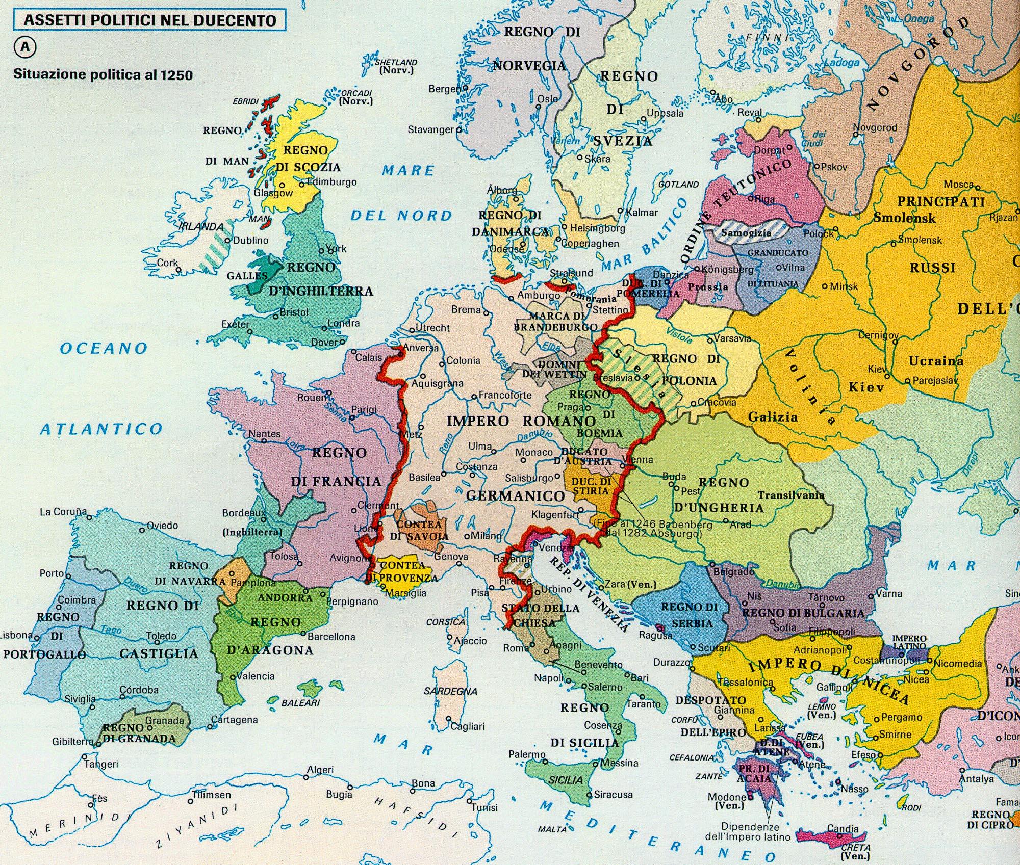 Cartina Europa 1700.05 2 Dal 1200 Al 1399 Filippo Giunta