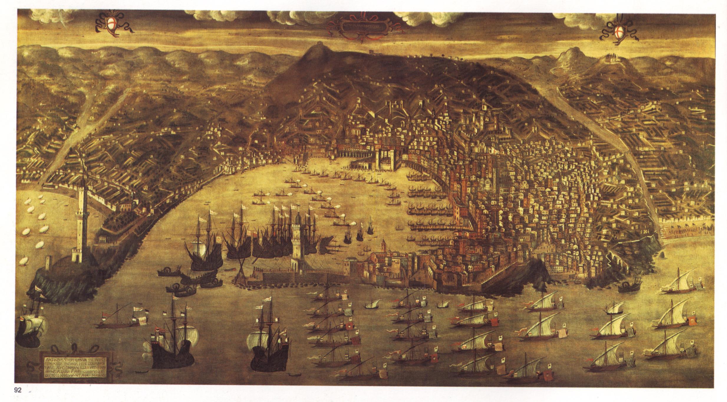Le port de Gênes au XVIème siècle