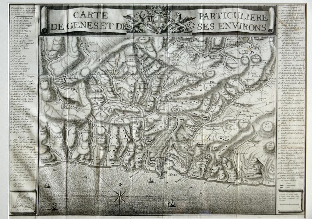1720 CARTE DE GENES ET DE PARTICULIERE SES ENVIRONS