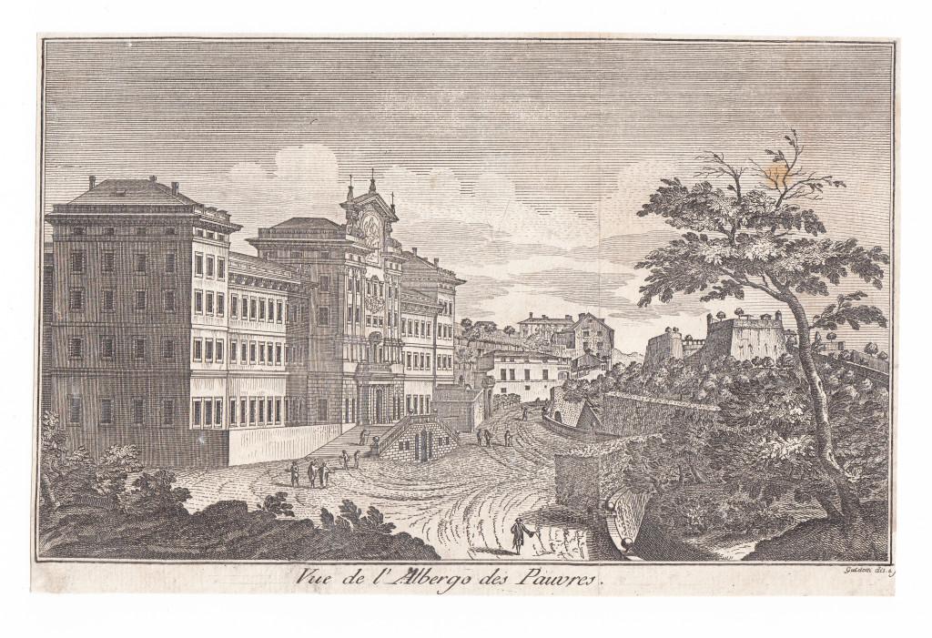 1781. Vue de l'Albergo des Pauvres. Guidotti dis. e sculpsit.