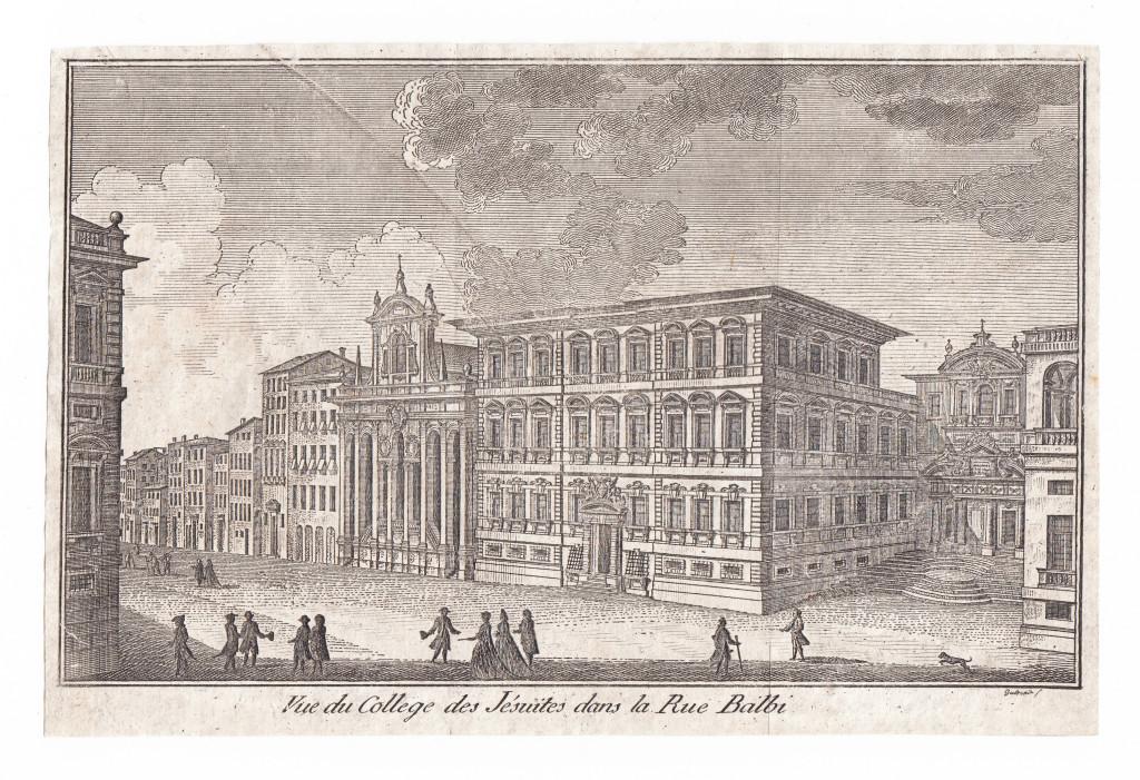 1781. Vue du College des Jésuites dans la Rue Balbi. Guidotti sc.