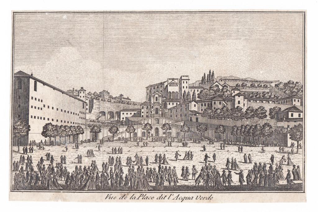 1781. Vue de la Place de Banchi.