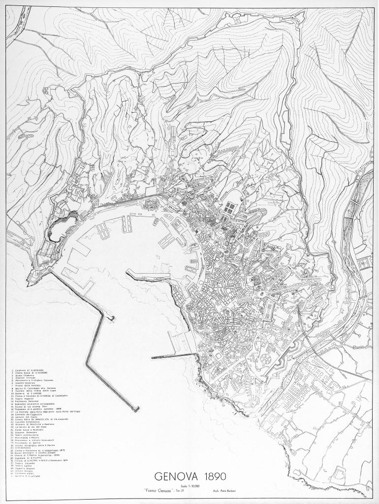 1890 MAPPA + LEGENDA