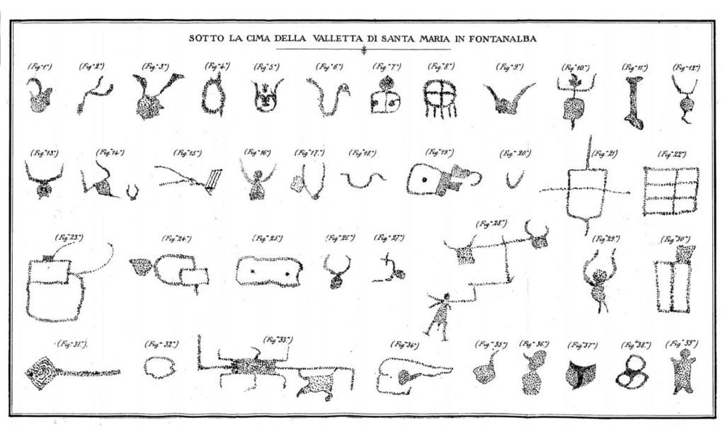Fig. 2. Da Celesia E., Escursioni Alpine. I-Laghi delle Meraviglie. II-Fontanalba. 1886.