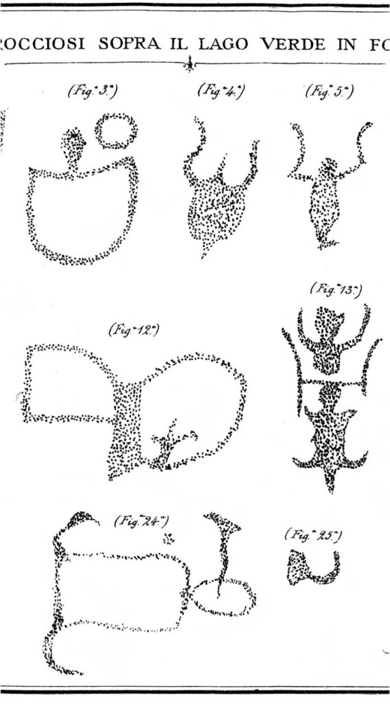 Fig. 4. Da Celesia E., Escursioni Alpine. I-Laghi delle Meraviglie. II-Fontanalba. 1886.