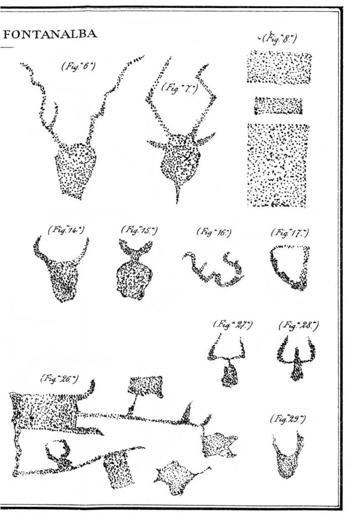 Fig. 5. Da Celesia E., Escursioni Alpine. I-Laghi delle Meraviglie. II-Fontanalba. 1886.