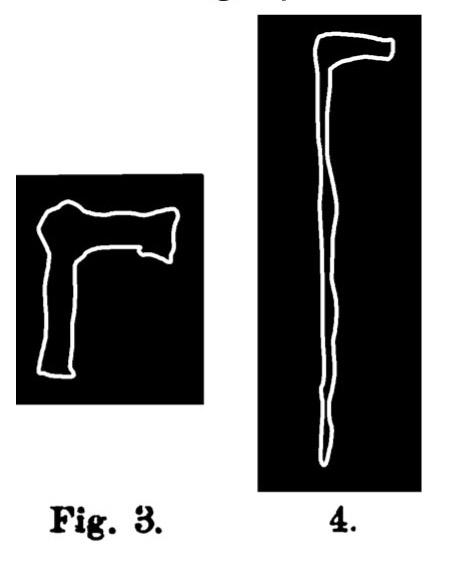 Fig. 3 e 4. Accetta immanicata. Fontanalba. Assai ridotta