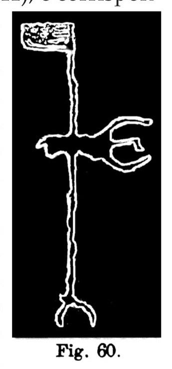 Fig. 60. Insegna ?. Val d'Inferno. Lunghezza dell'originale m. 0,595 (Rivièrel).