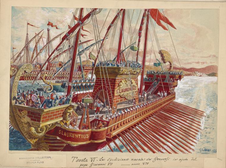 878 Spedizione navale di Genova in aiuto di Giovanni VII TVI
