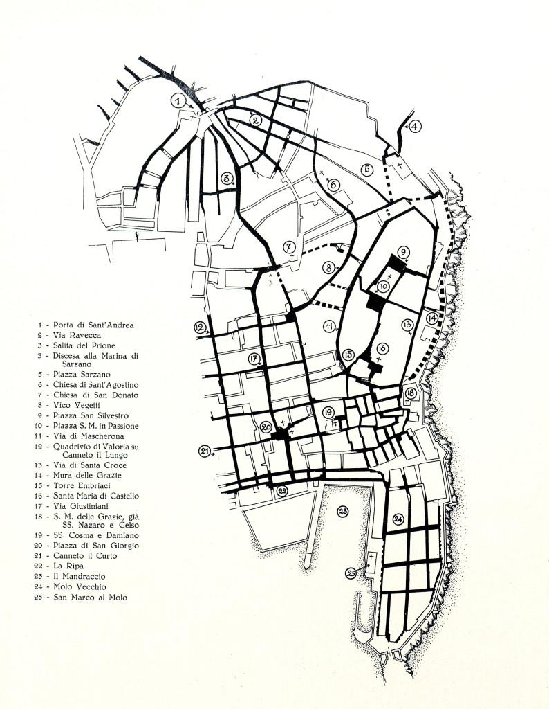 planimetria di Genova pre-romana