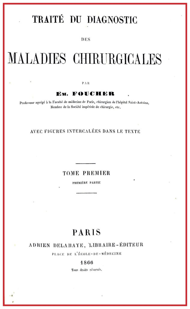 1866 FOUCHER FRONTESPIZIO